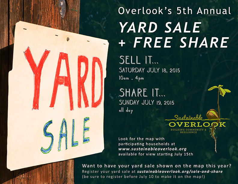2014 Overlook Yard Sale - Free Share Flier